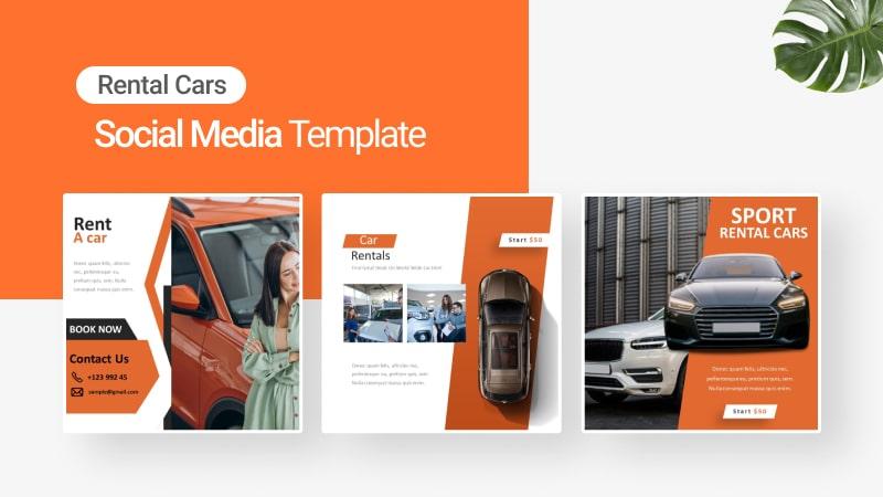 Car Rent Social Media Template