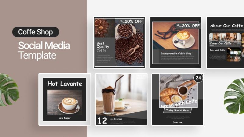 Coffe Shop Social Media Template