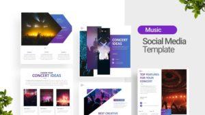 Music Event Social Media Template