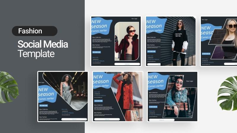 Fashion Dark Social Media Template
