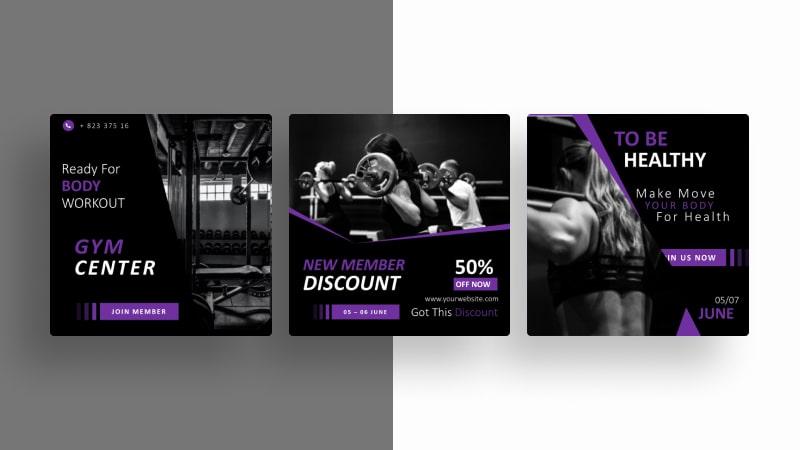 Gym Social Media Template