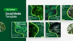 Go Green Social Media Template