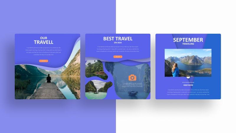 Gradient Travel Social Media Template