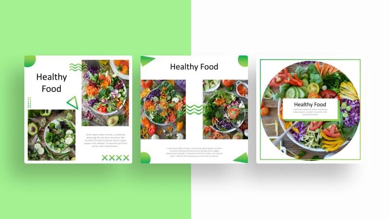 Healthy Food Social Media Template