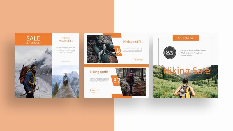 Nature Hiking Social Media Template
