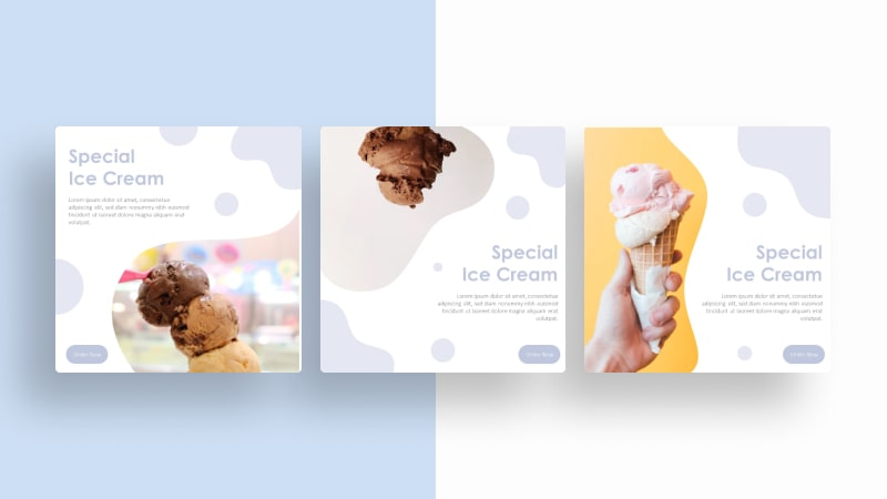 Ice Cream Social Media Template