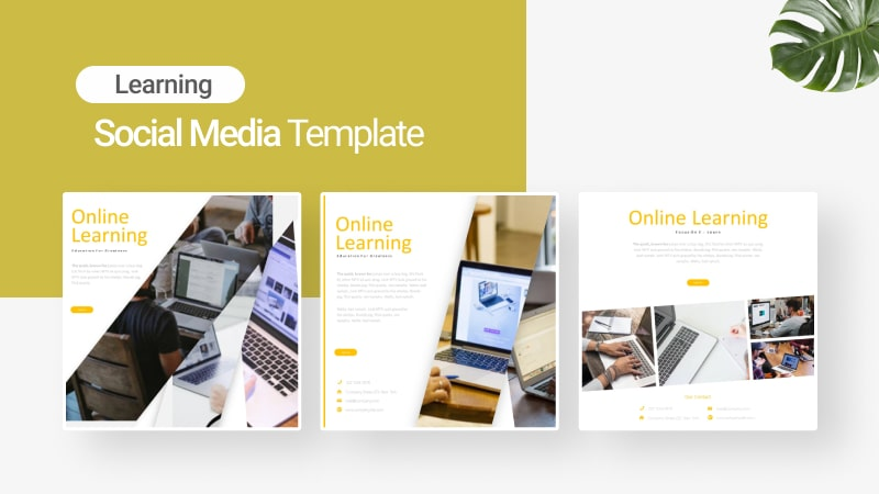 E-Learning Social Media Template