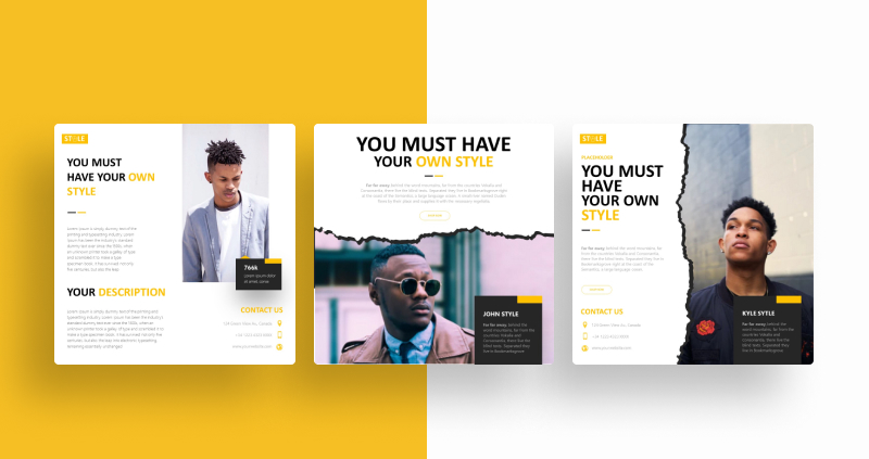 Yellow Fashion Social Media Template