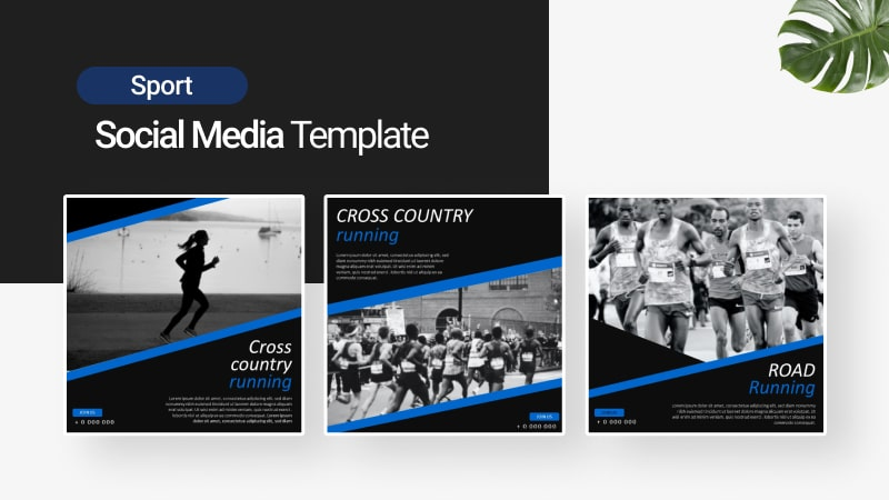 Run Sport Social Media Template