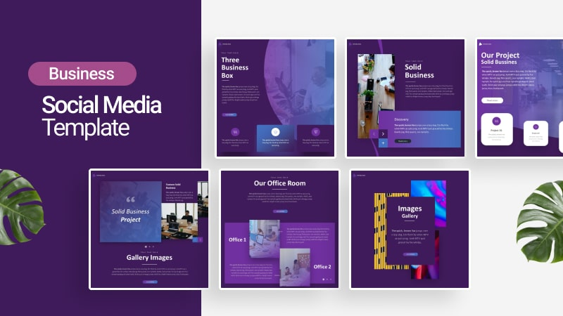 Solid Business Social Media Template