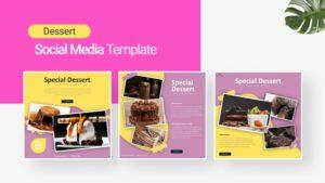 Food Dessert Social Media Template