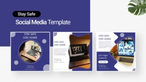 Stay Home Social Media Template