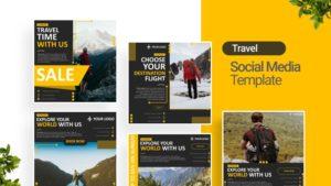 Travel Vacation Social Media Template