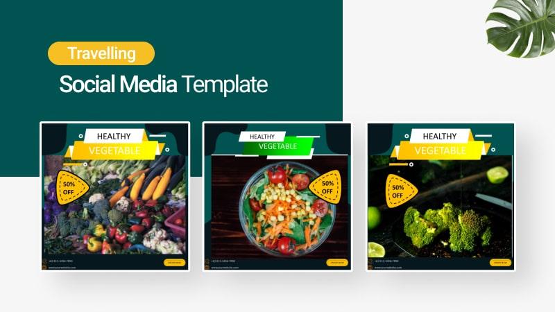 Green Food Social Media Template