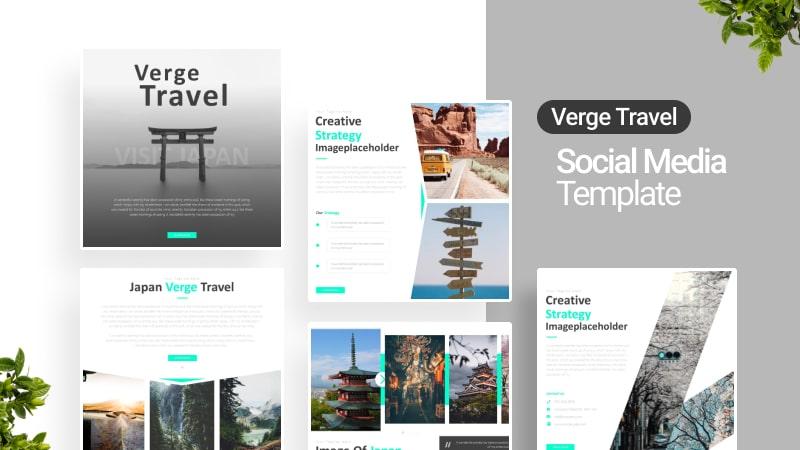 Verge Travel Social Media Template