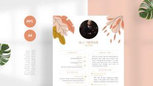 Summer Foliage CV Template