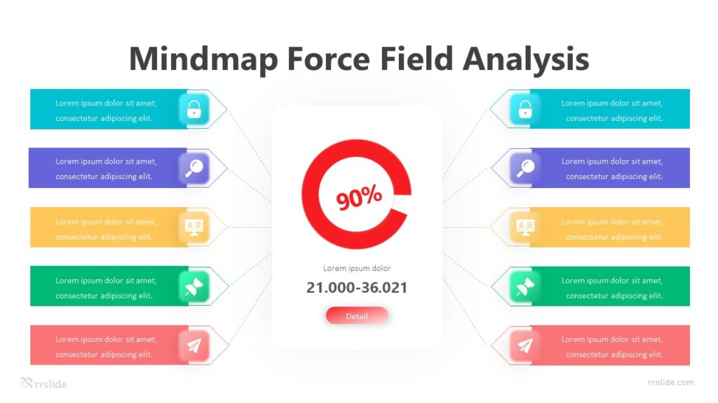 Mind map Force Field Analysis Infographic Template