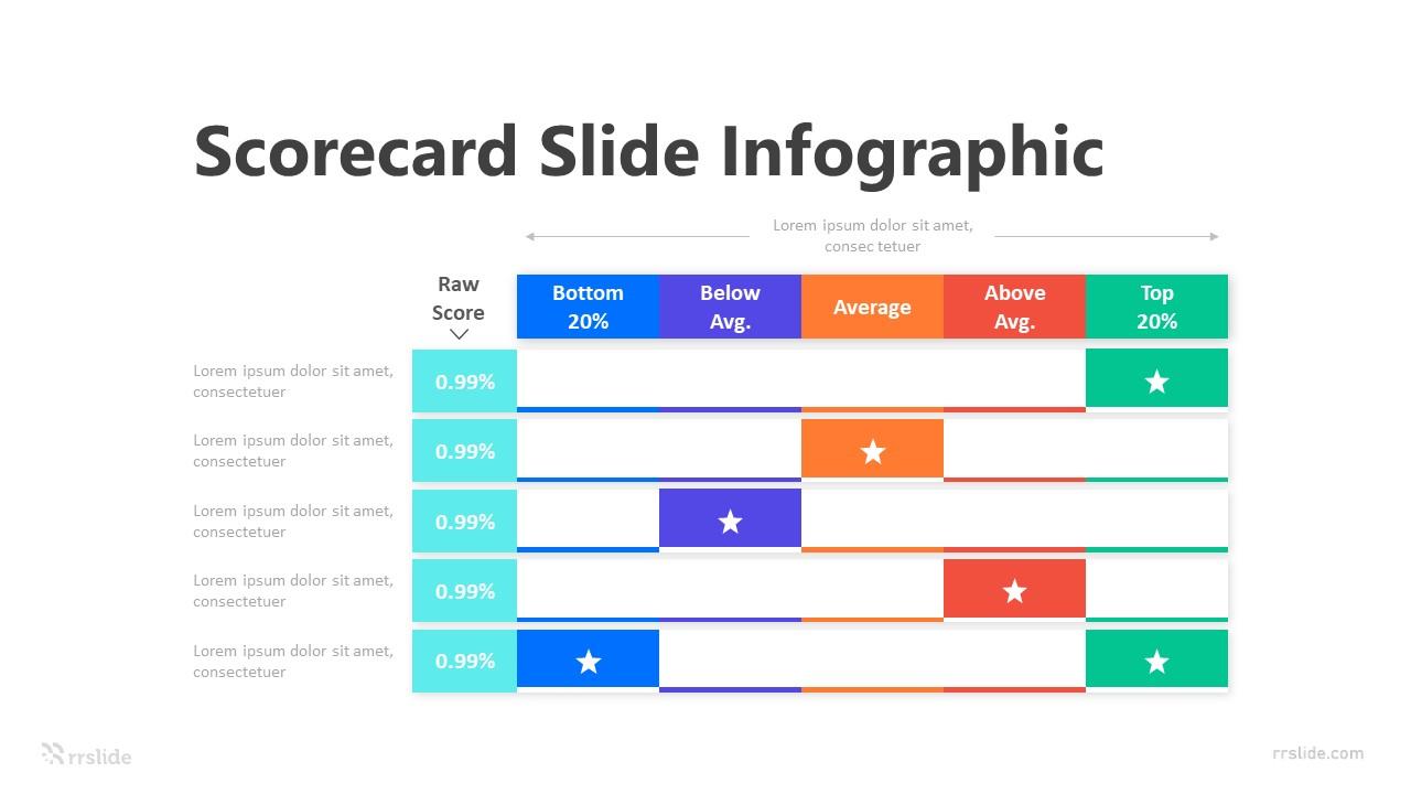 Scorecard Slide Infographic Template