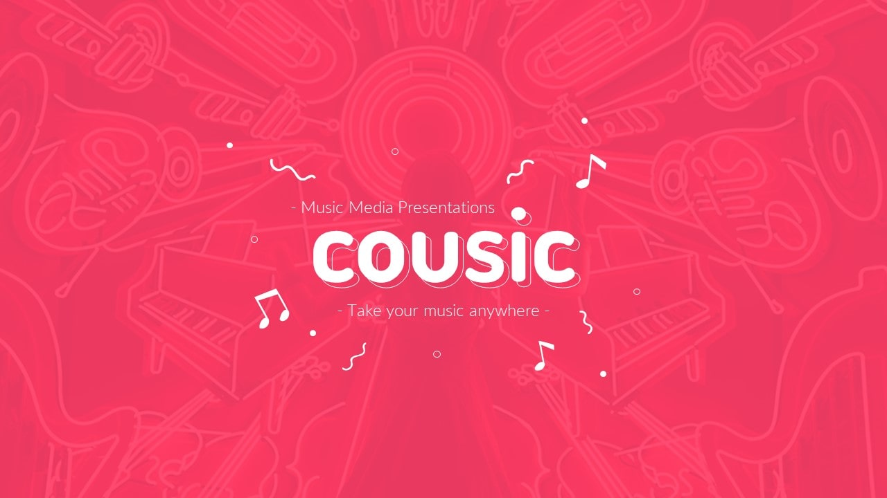 Cousic Music Event PowerPoint Presentation