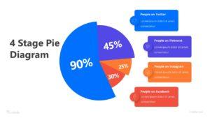 Social Media Diagram Pie Infographic Template