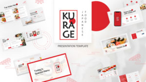 Kurage Japanese Food PowerPoint Template