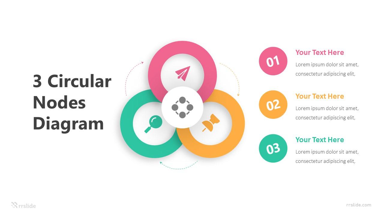 Triangle Circular Nodes Diagram Infographic Template
