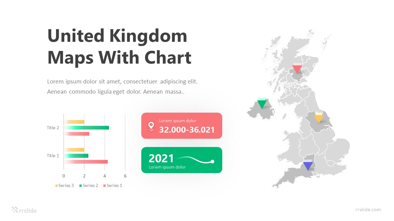 United Kingdom Maps with Chart Infographic Template