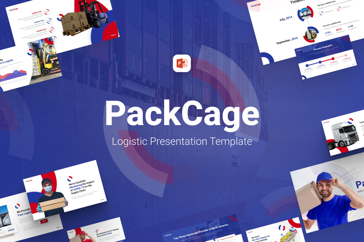 PackCage Logistic PowerPoint Template