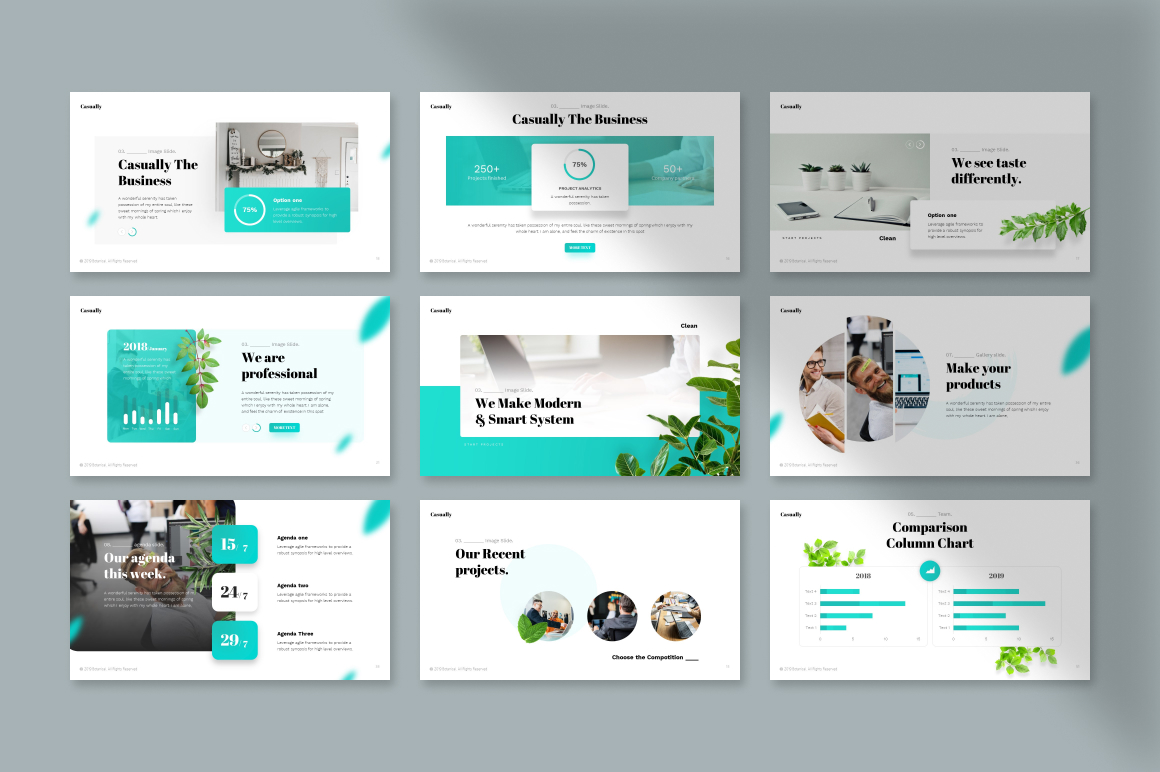 Casually Minimalist PowerPoint Template