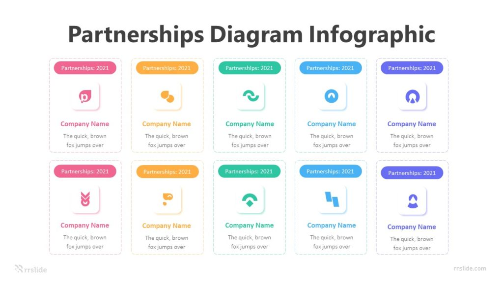 10 Partnerships Diagram Infographic Template