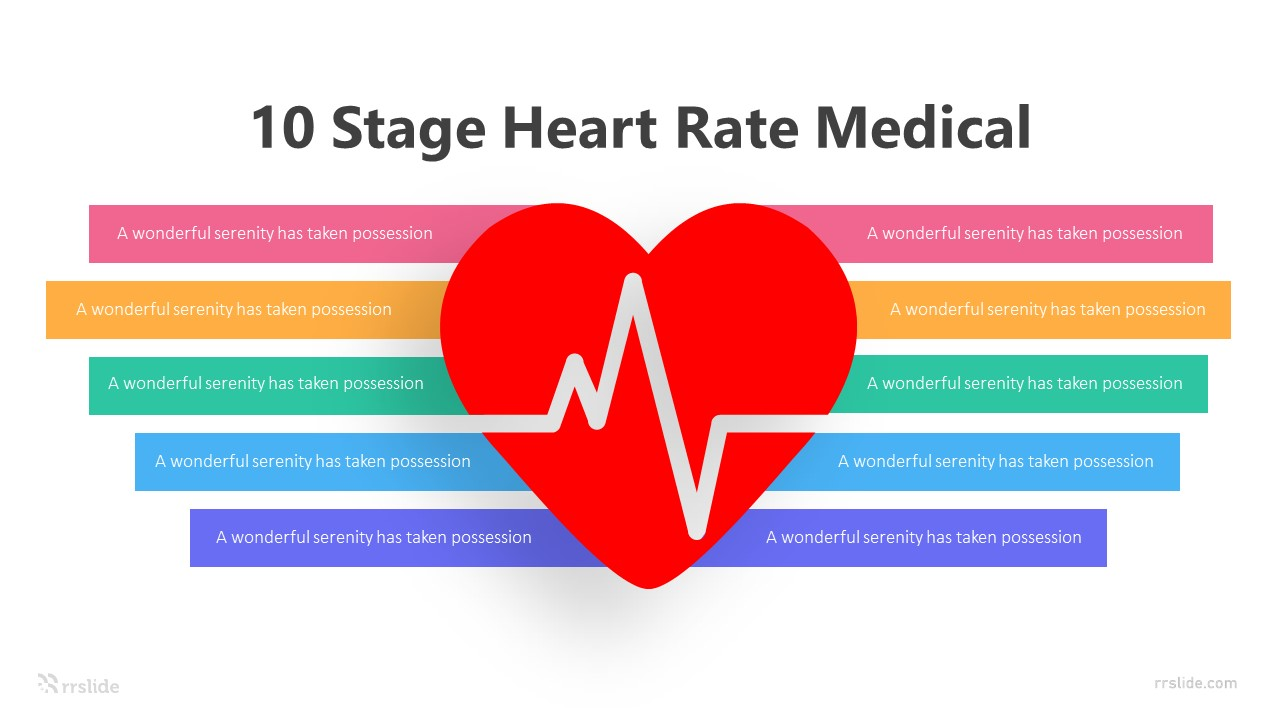 10 Stage Heart Rate Medical Infographic Template