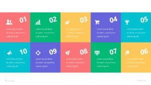 10 Stage Table Of Content Infographic Template