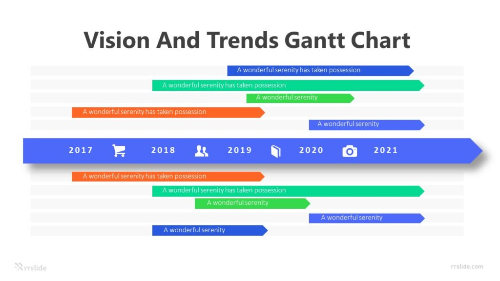 10 Vision And Trends Gantt Chart Infographic Template