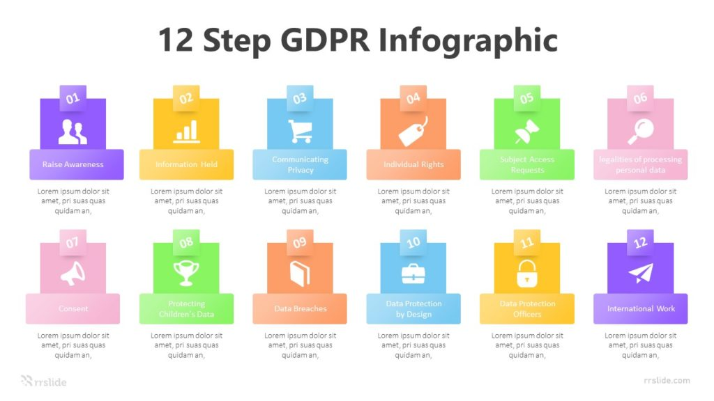 12 Step GDPR Infographic Template