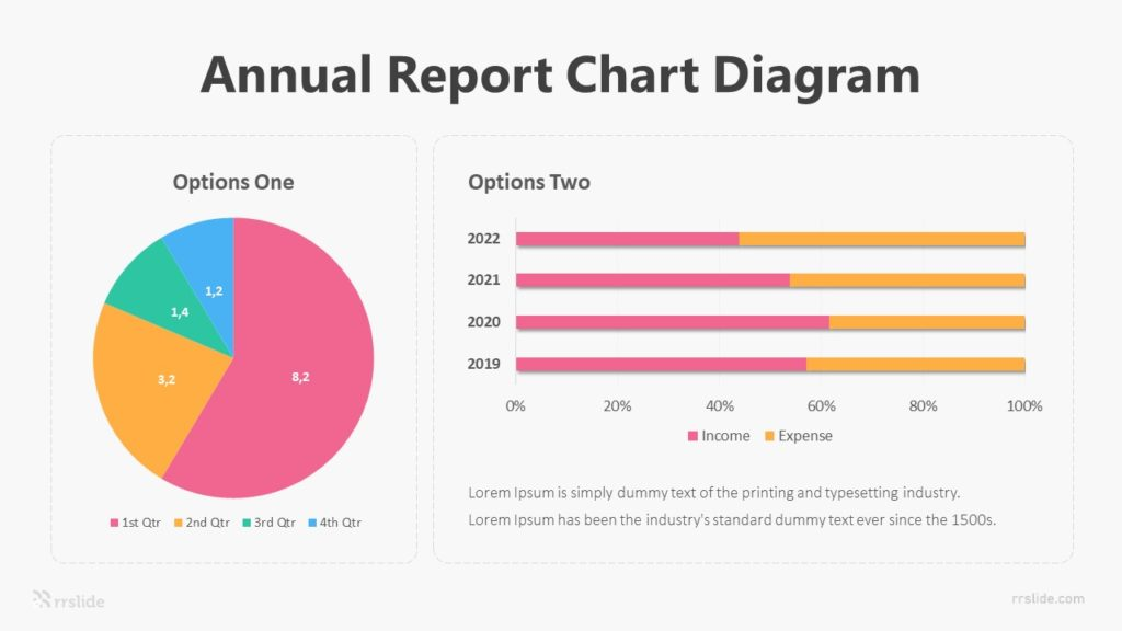 2 Annual Report Chart Diagram Infographic Template