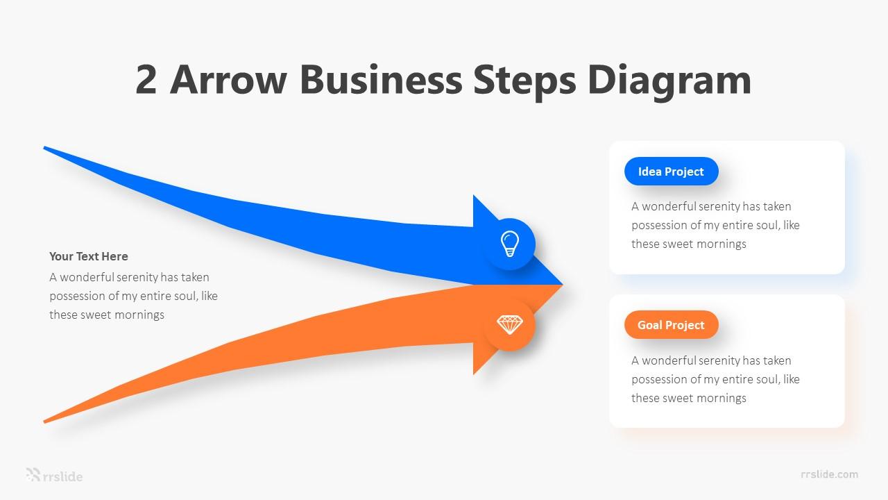2 Arrow Business Steps Diagram Infographic Template