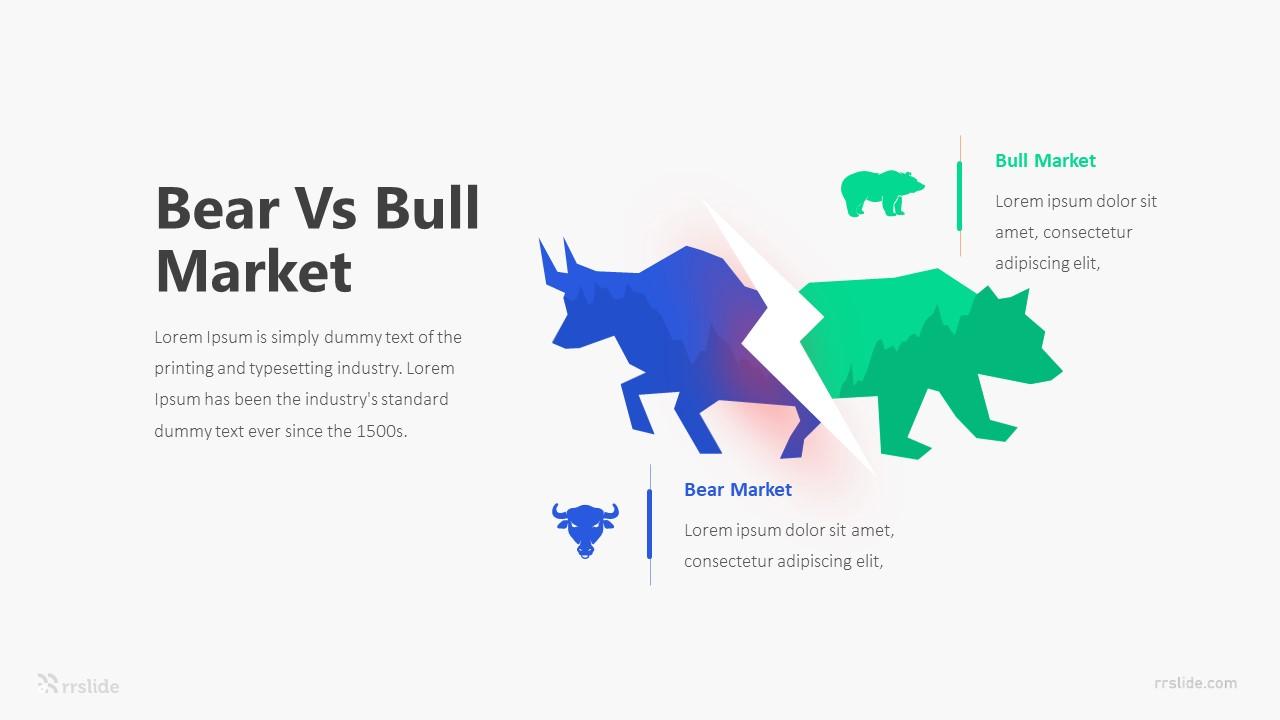 2 Point Bear Vs Bull Market Infographic Template