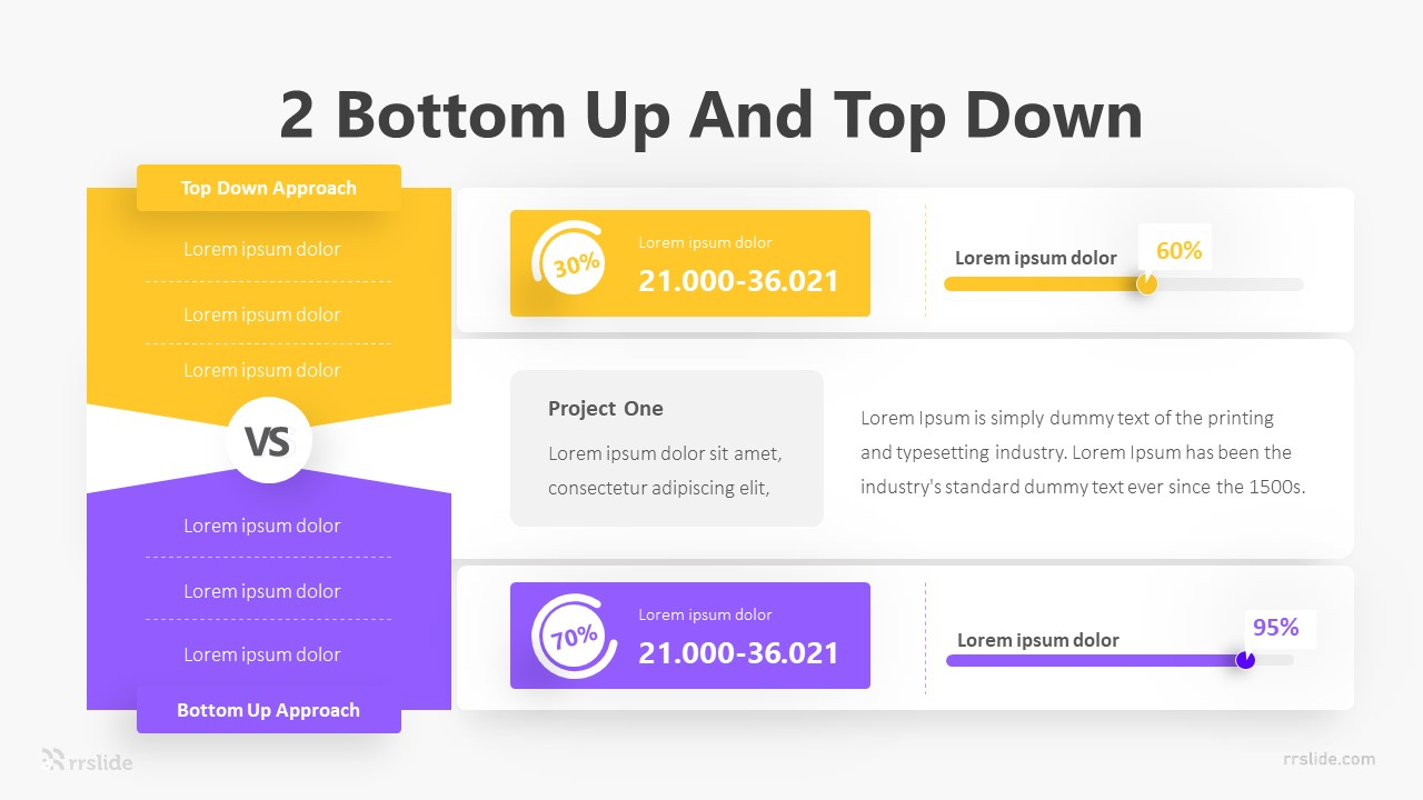 2 Bottom Up And Top-Down Infographic Template