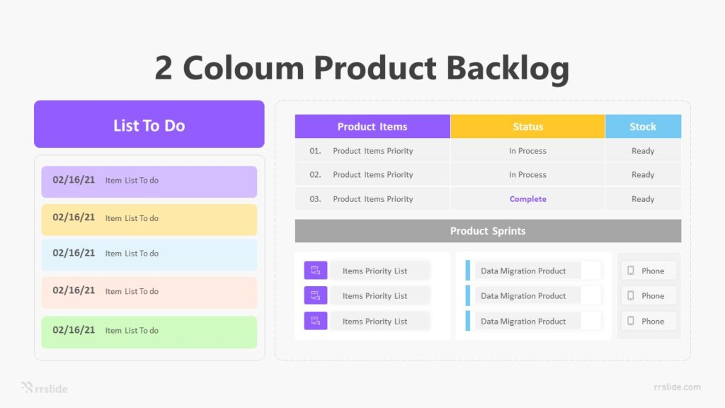 2 Coloum Product Backlog Infographic Template