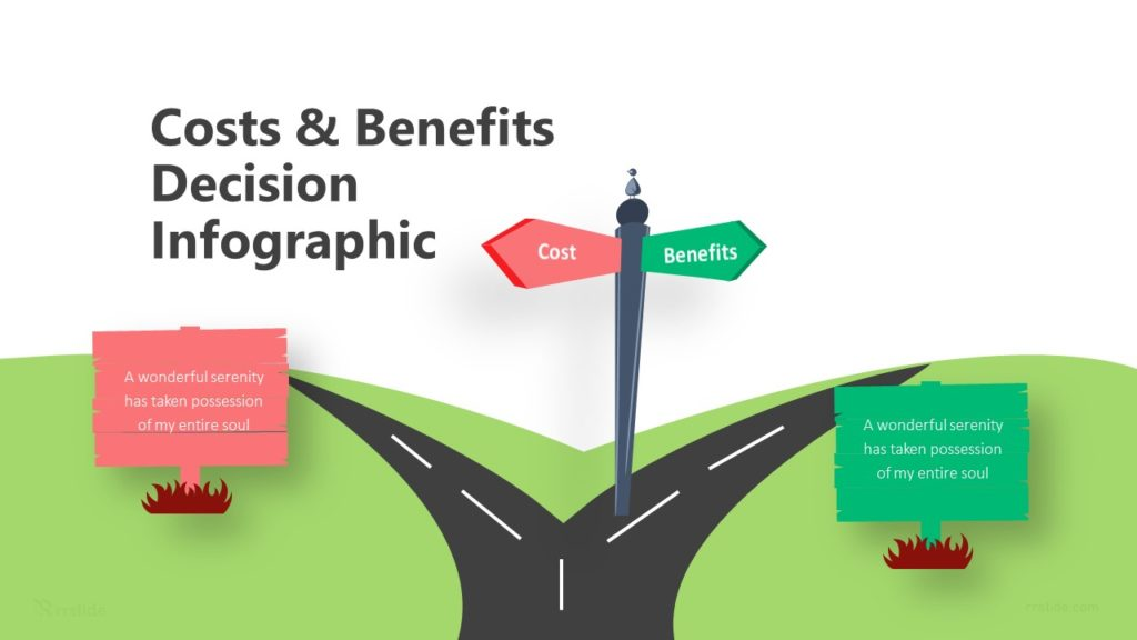 2 Costs & Benefits Decision Infographic Template