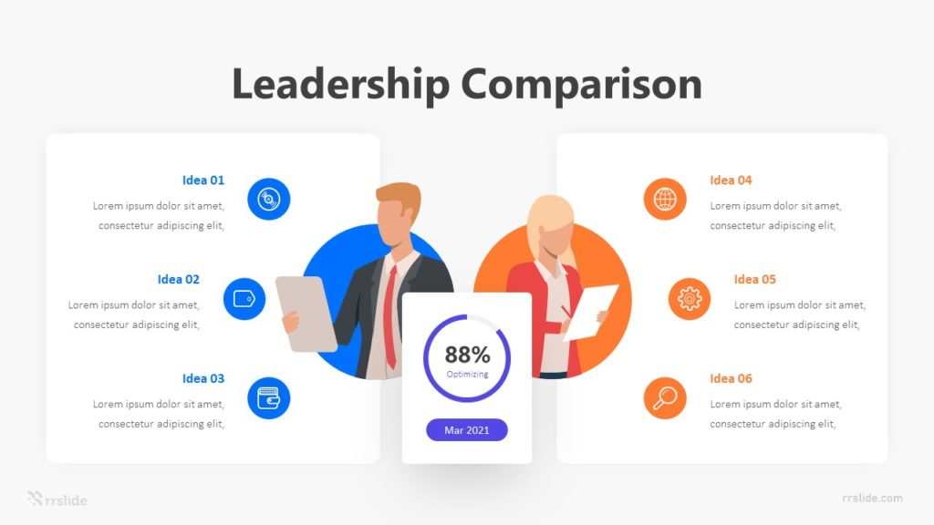 2 Leadership Comparison Infographic Template