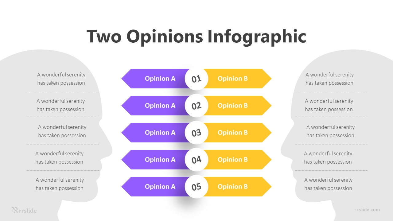 2 Opinions Infographic Template