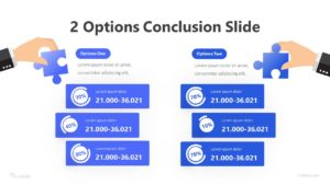 2 Options Conclusion Slide Infographic Template
