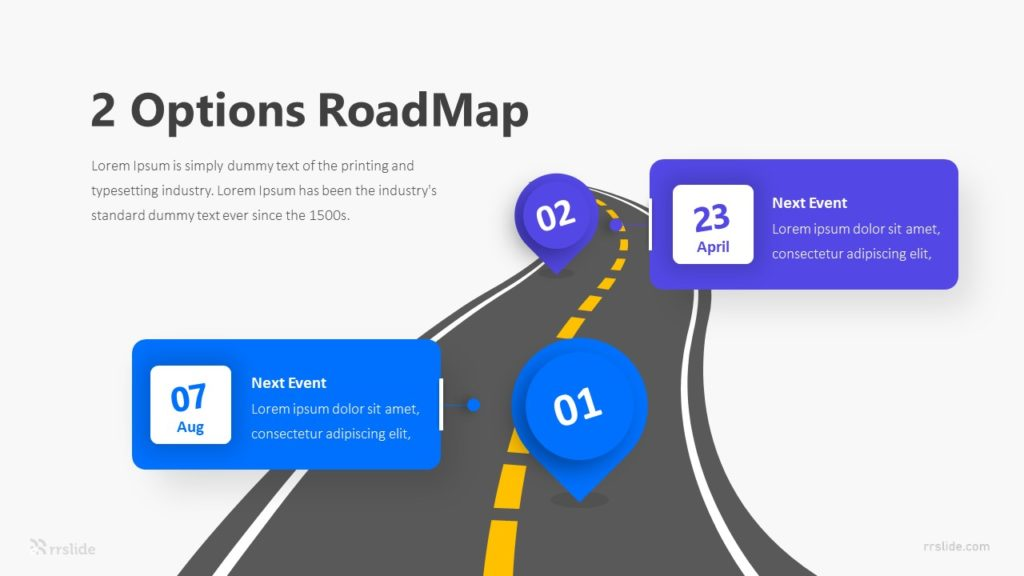 2 Options RoadMap Infographic Template