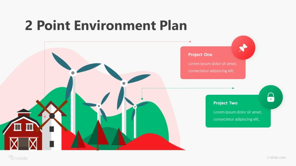 2 Point Environment Plan Infographic Template