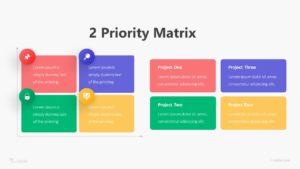 2 Priority Matrix Infographic Template