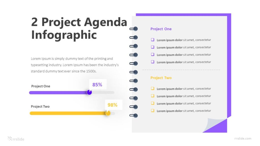 2 Project Agenda Infographic Template