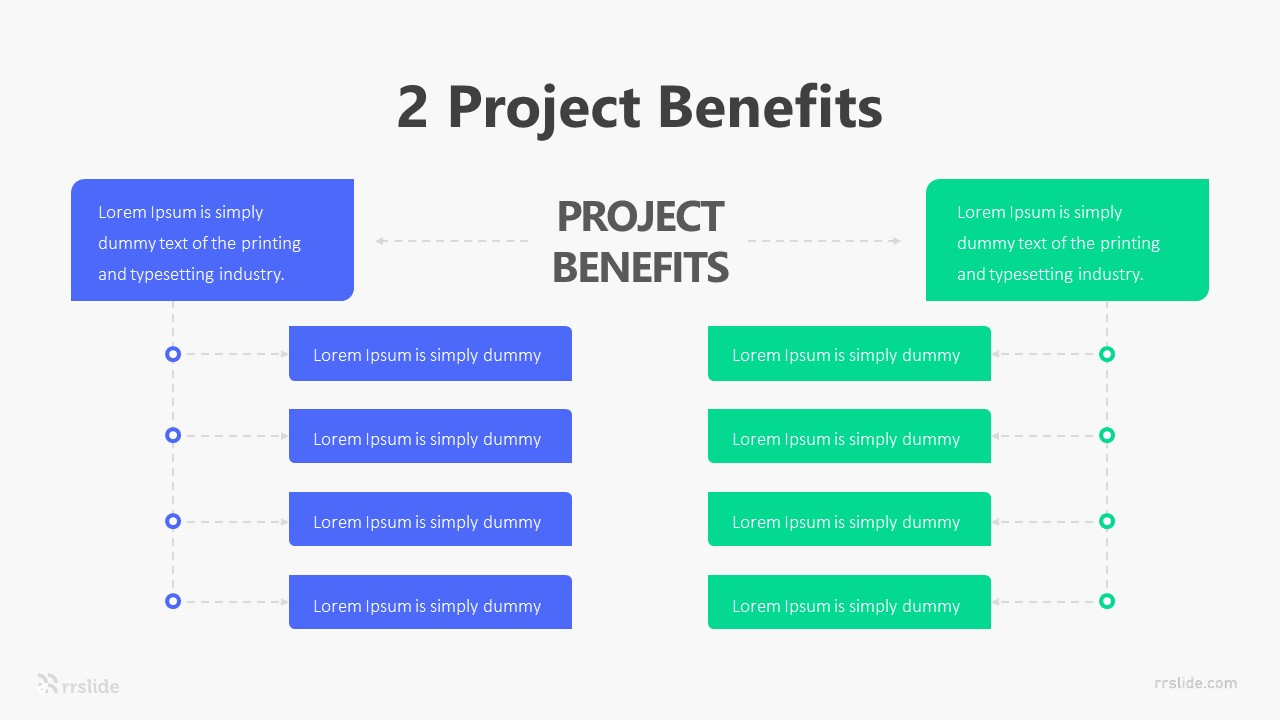 2 Project Benefit Infographic Template