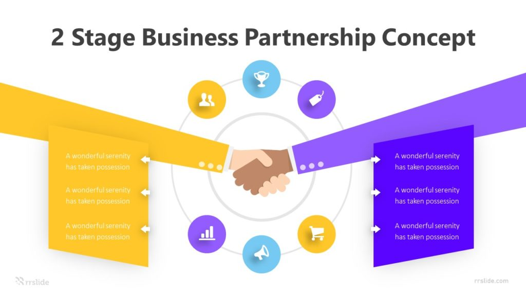 2 Stage Business Partnership Concept Infographic Template