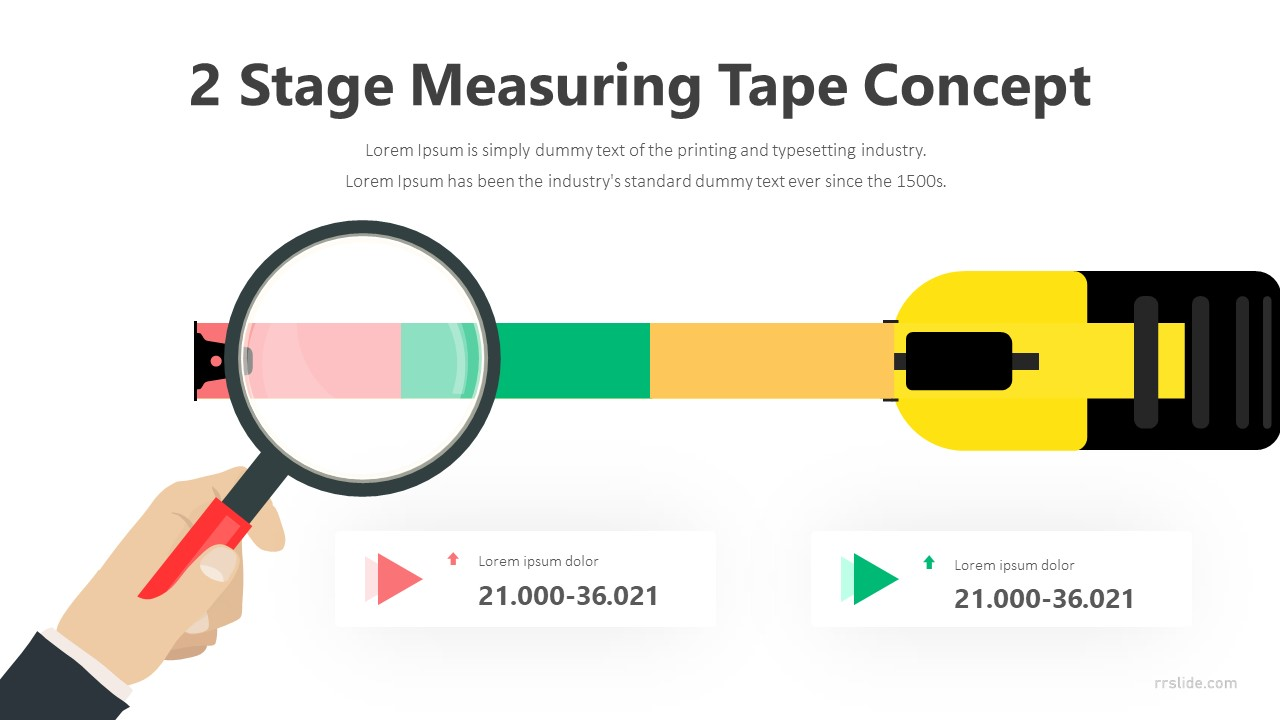 2 Stage Measuring Tape Concept Infographic Template